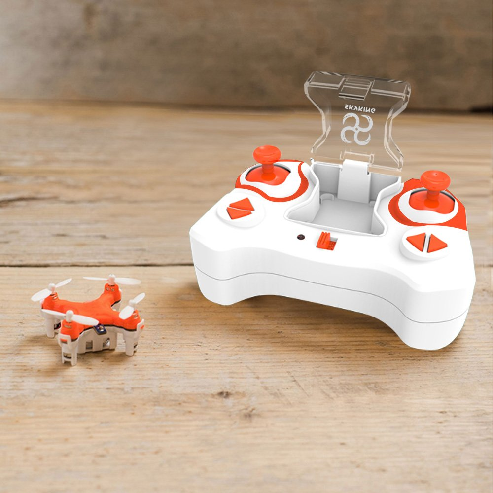 SKYKING Mini Drone Remote Control Drone RC Drone S-007 Mini Drone Quadcopter with 2.4Ghz 6 Axis Gyroscope 3D Flips and Headless Mode Extra Propellers for Kids