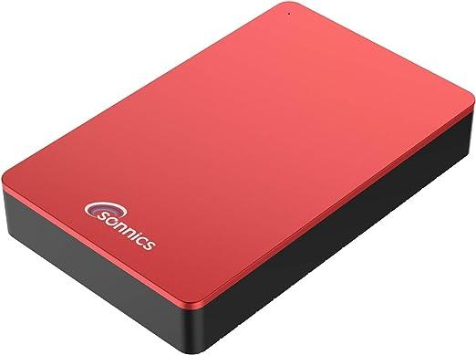 Sonnics - Disco Duro Externo para Ordenador de sobremesa (USB 3.0, Compatible con Windows PC, Mac, Smart TV, Xbox One y PS4) Rosso 320 GB: Amazon.es: Informática