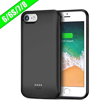 FLYLINKTECH Funda Bateria para iPhone 6/6s/7/8, 6000mAh Batería Cargador Externa para iPhone 6/6s/7/8 4,7 Recargable Backup Charger Case Portátil ...