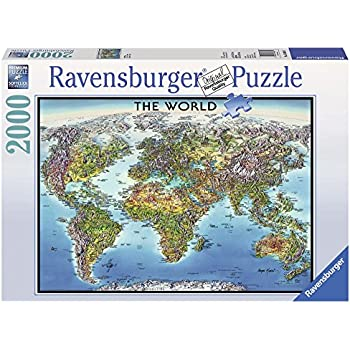 Amazon 4000 piece puzzle the world map toys games ravensburger world map jigsaw puzzle 2000 piece gumiabroncs Image collections