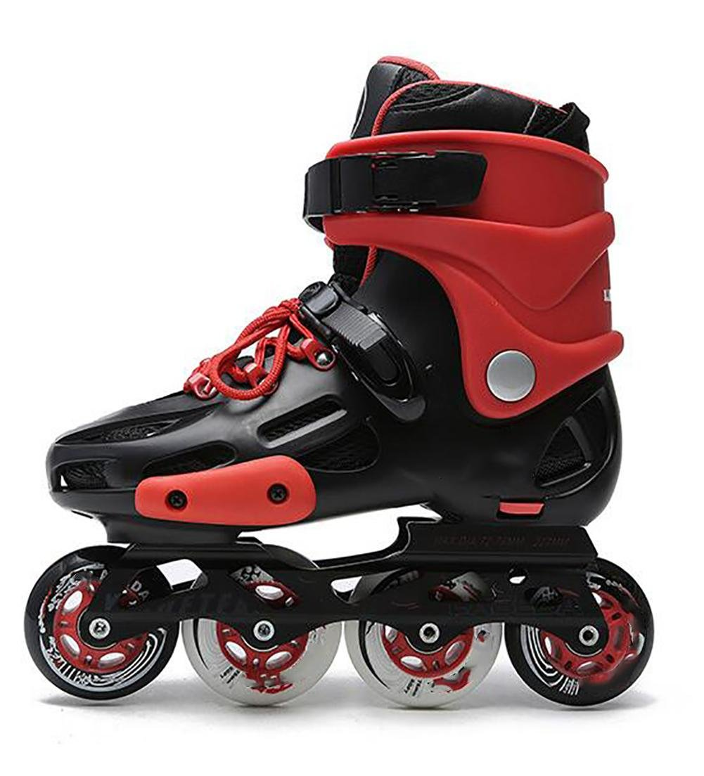 Inline Skates For Men Unisex Racing PP Material Aluminum CNC Stent PU Perfusion Wheel Red , 37 by TX
