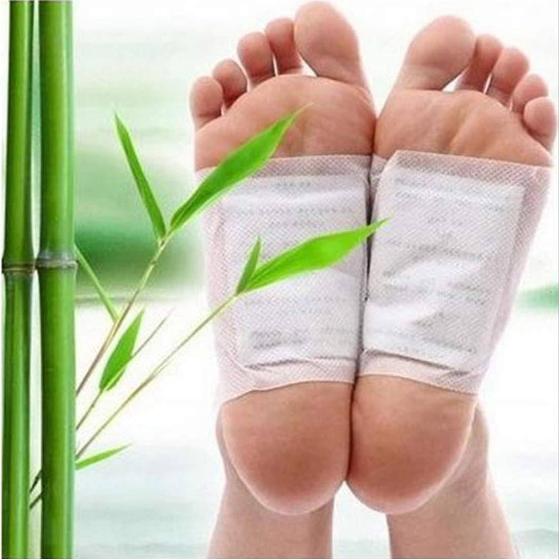 Pied de b/âton//poudre de pied patch pour pieds D/étoxifier les toxines Adh/ésif Garder les pieds//Soins de sant/é corporels Detox//Vinaigre de bambou 10pcs
