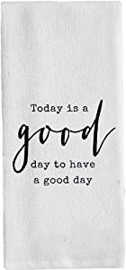 FaceYee Motivational Towels Today is a Good Day to Have a Good Day Dish Towels Washcloths Dishcloth Home BathroomClassroom Decor 14x 30 Inch(35x75cm) Color: Today is a Good Day