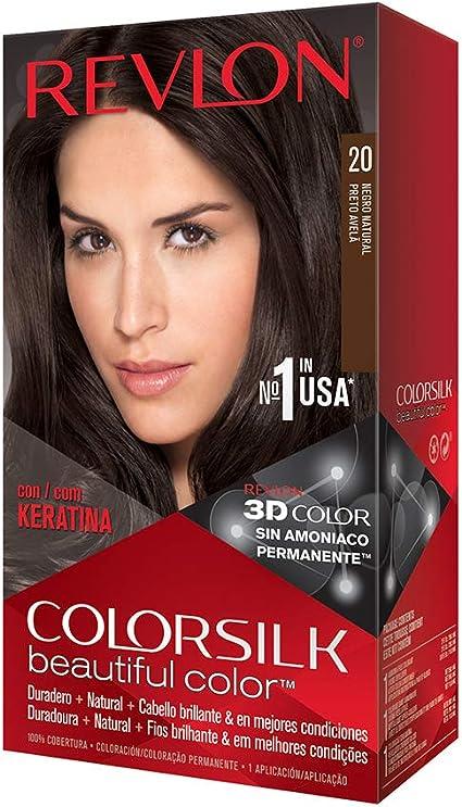 Revlon Colorsilk - Tinte, color 20-negro natural, 200 gr
