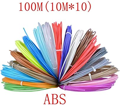 W-Shufang,3D 20 Colores o 10 Colores/Set 3D Filamento ABS/PLA 1.75 ...