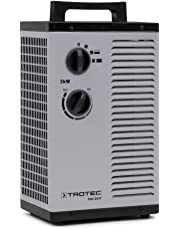 TROTEC - Calefactor cerámico - TDS 20 P - de 3.000 Watt (3 kW) con dos de ajustes de calor, más una etapa separada de aire frío
