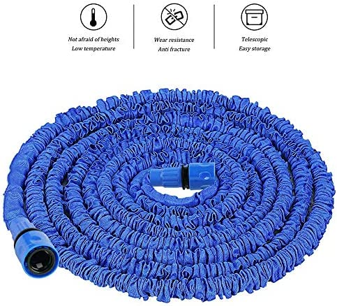STCRY Expandable Water Pipe 100FT Garden Hose Pipe Car wash high-pressure water gun Leak-proof Brass Fittings Garden,Home,Cars Cleaning