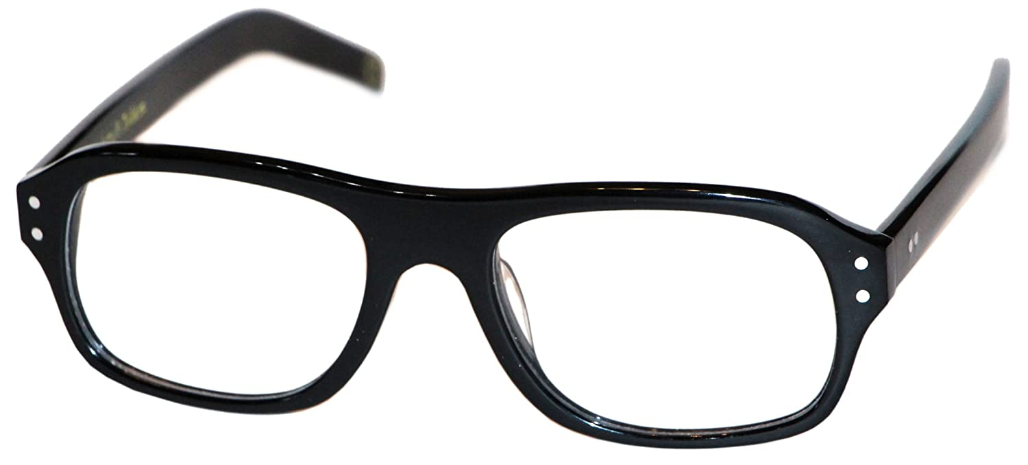 dc9bb252c1 Amazon.com  Magnoli Clothiers Kingsman Glasses (Black (Clear Lenses))   Clothing