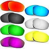 HKUCO Mens Replacement Lenses For Oakley Whisker Red/Blue/24K Gold/Titanium Sunglasses IFVhjCd8u