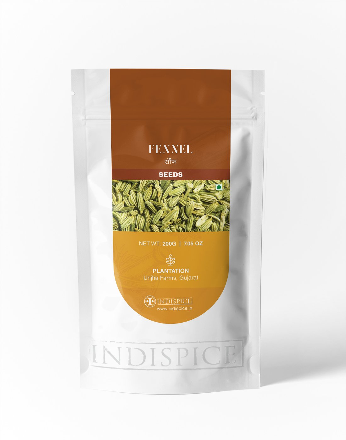 IndiSpice Indian Fennel Seed | Sourced from Finest Indian Plantations (7.05Oz)