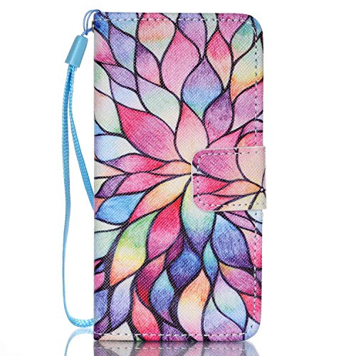 Price comparison product image Urberry Ipod Touch 5 / Touch 6 Case,  Fashion Wallet Case for Touch 5 / Touch 6,  Sunflower Case with a Free Stylus