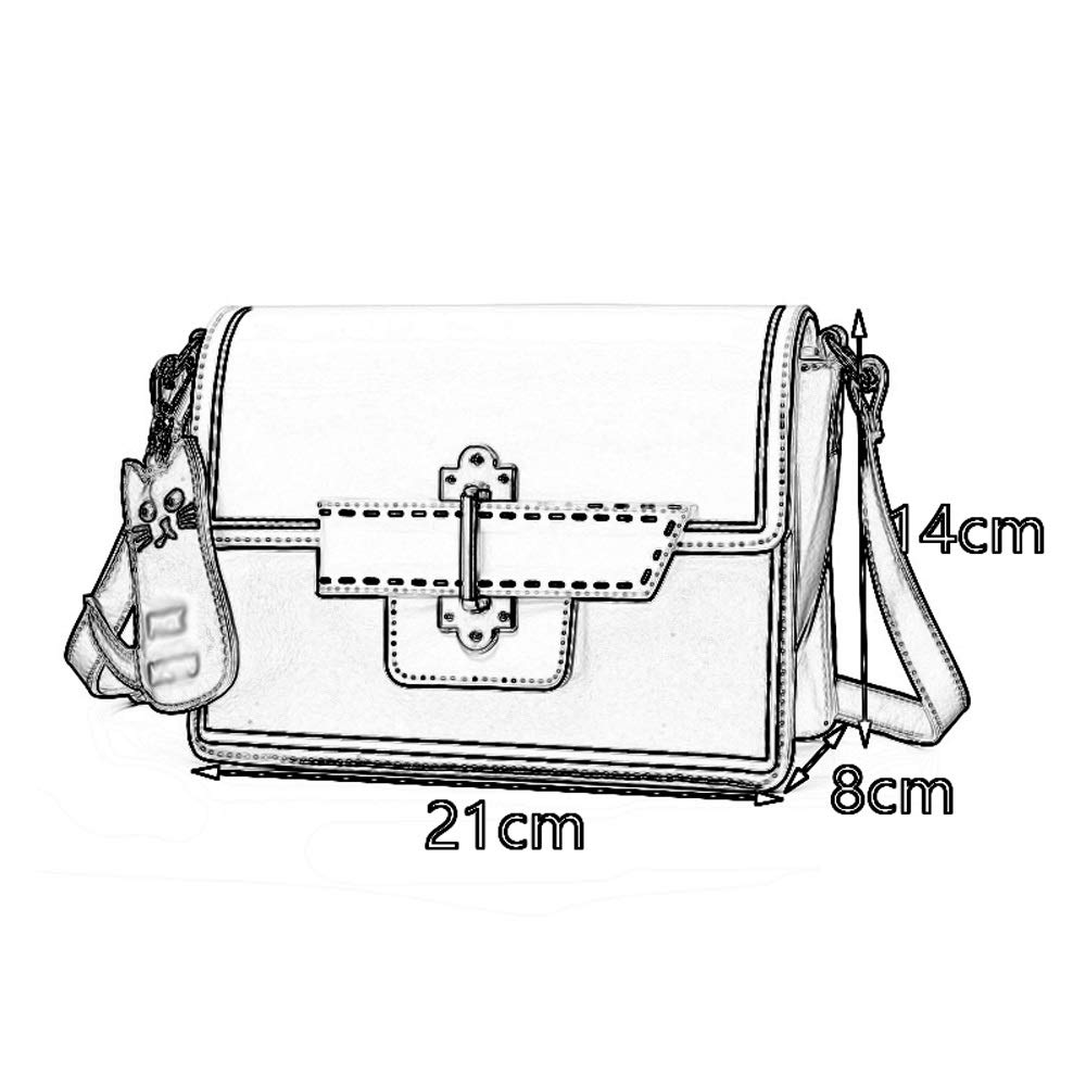 Casual Small Square Bag ZJ- Shoulder Bag Shoulder Bag Color : Blue Personality Student Slanting Adjustable Shoulder Strap PU//Polyester Versatile Shoulder Color