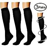 Compression Socks (3 Pairs) 15-20 mmhg is BEST Athletic & Medical for Men & Women, Running, Flight, Travel, Nurses,Edema