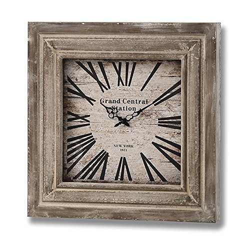 Hill Interiors Grand Central Station Square Wall Clock (One Size) (Light (Grand Central Clock)
