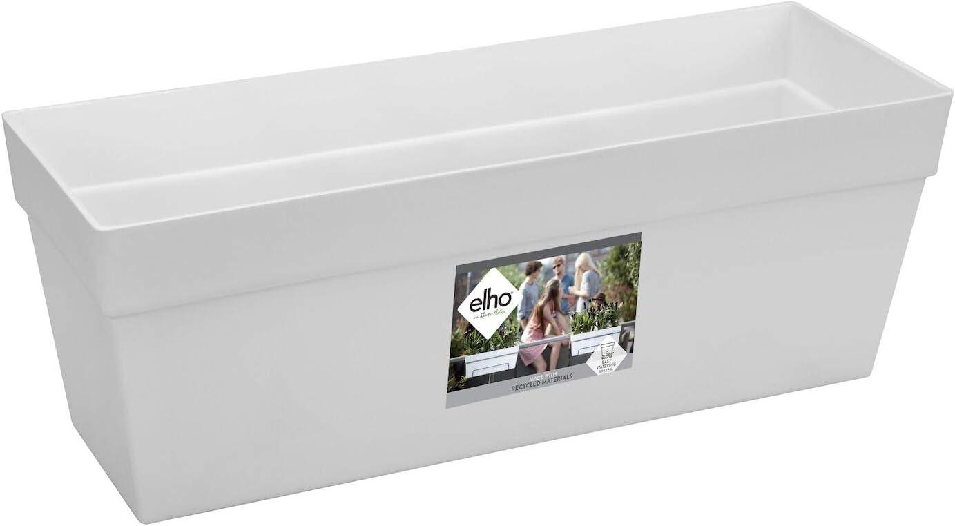 Elho Loft Urban Flower Bridge - Jardinero balcón, 49 x 17.3 x 38.4 cm, color blanco