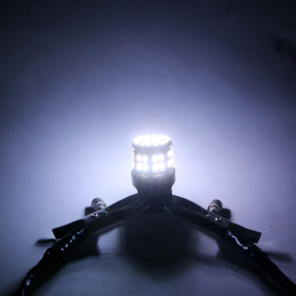 1 par de Luces de Reserva de Reserva para Parada Trasera Universal T20 7443 W21//5 W de luz de Freno LED de Coche 50SMD iTimo