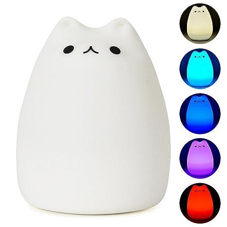 YouOKLight Color cambiante gato de dibujos animados LED noche luz ...