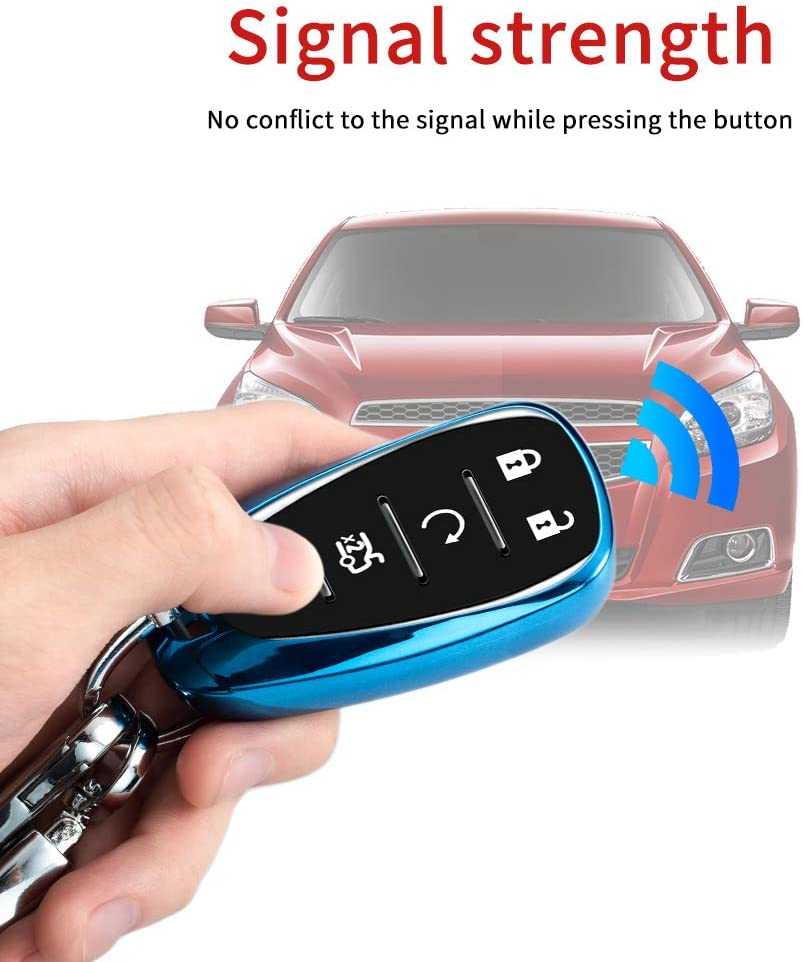 Pink TPU Key Fob Cover Case Remote Holder Skin Protector Jacket for Chevrolet 2017 2018 2019 Chevy Malibu Camaro Cruze Traverse Sonic Volt Bolt Equinox