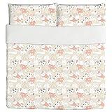 Dogs Meeting Duvet Bed Set 3 Piece Set Duvet Cover - 2 Pillow Shams - Luxury Microfiber, Soft, Breathable