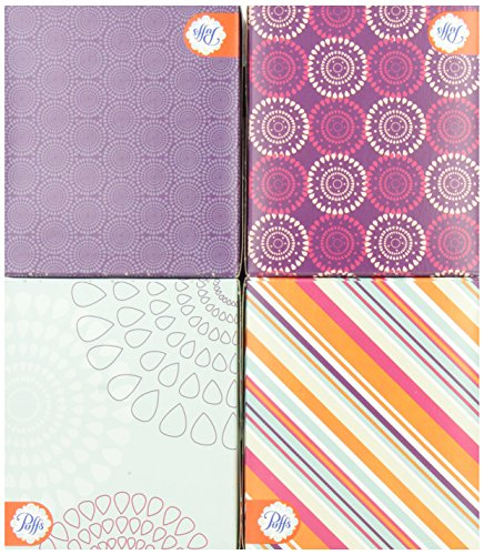 64 Per Box 4 Cubes 256 Count- Packaging May Vary Puffs Basic Facial Tissues
