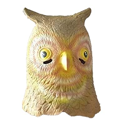Owl Head Mask Rubber Latex Animal Costume Full head Mask Halloween Costume Fancy dress  sc 1 st  Amazon UK : owl head costume  - Germanpascual.Com