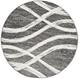 Safavieh Adirondack Collection ADR125R Charcoal and Ivory Modern Round Area Rug (4′ in Diameter) Review