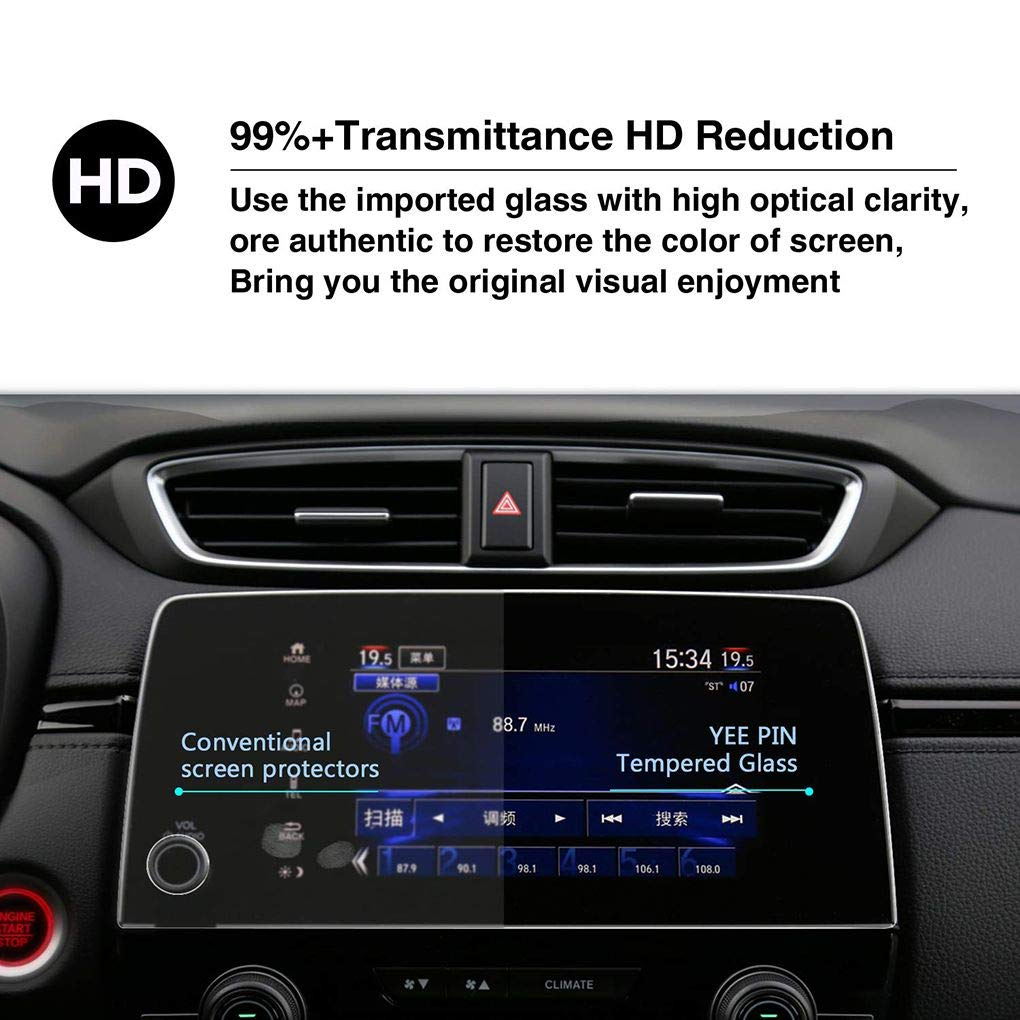 Audio & Video Accessories Zerama Replacement for Honda CRV 2017 Center Control Screen Navigator Protective Tempered Glass Cover Film Accessories