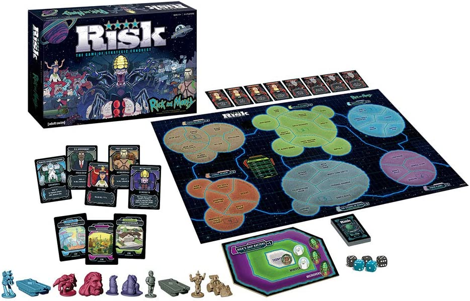 USAopoly Risk Rick & Morty Edition Board Game Juego de Mesa ...