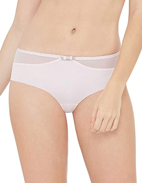 Variance 07757-044 Womens Ravissante Poudre Pink Solid Colour Knickers Panty Brief Small