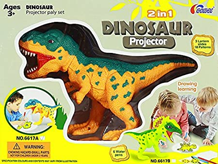 LEAN Dinosaurio de la Pluma del proyector + 18 Imagen Pintura ...