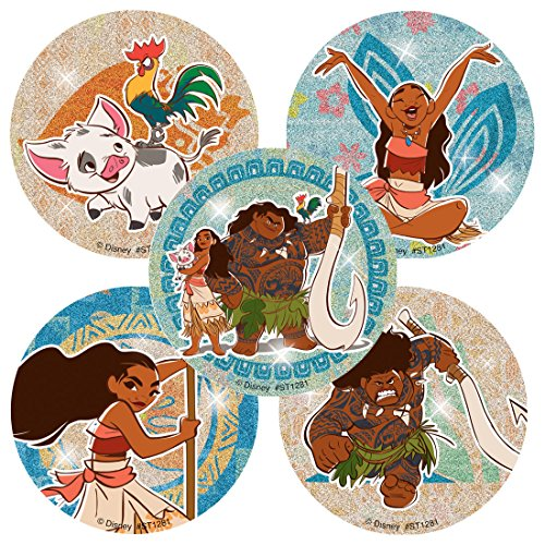 Moana Glitter Stickers - Prizes and Giveaways - 50 per Pack
