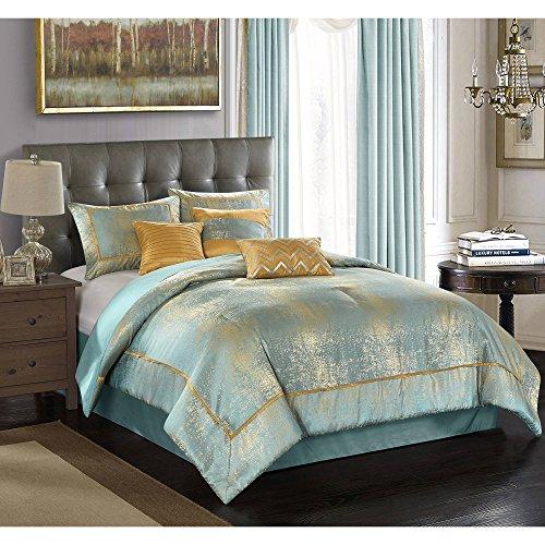 Duo Metallic 7-Piece Bedding Comforter Set, King
