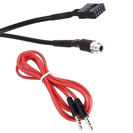 KKmoon Cable Hembra Auxiliar Adaptador de Audio Modo de Entrada ...