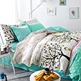 TheFit Paisley Bedding for Adult U54 Health and Meditation Duvet Cover Set 100% Cotton, Queen Set, 4 Pieces
