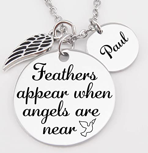 Amazon Com Memorial Jewelry Pendant Necklace Feathers Appear