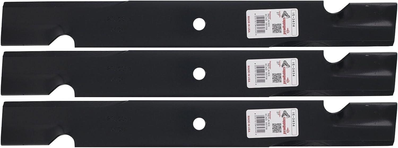 3 Rotary cuchillas para Husqvarna 539101733, Kees 101733, 61 ...
