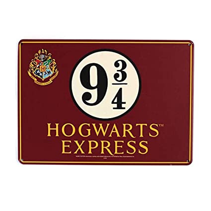 HARRY POTTER Chapa Metalica Peque Hogwarts Express, Rojo Blanco y Negro, A5