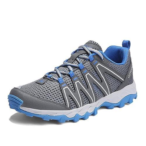 Zapatillas de Senderismo Hombre Zapatillas Trekking Mujer Transpirable Mesh Calzado Deportivo Casual Aire Libre Sneakers: Amazon.es: Zapatos y complementos