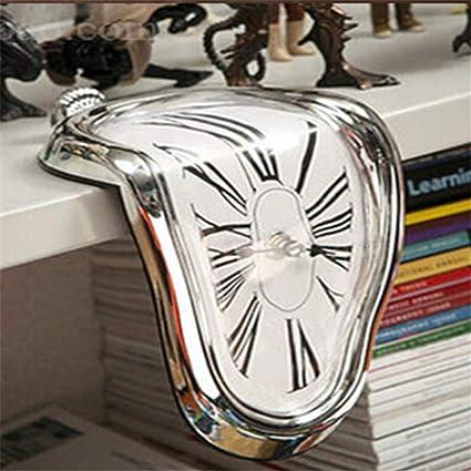 WZclock Relojes de Pared novelas Surrealista derretido retorcido Reloj de Pared Surrealista Estilo de Salvador Dalí
