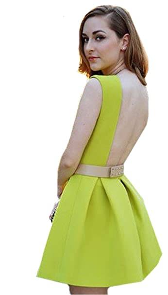 Sheinside - Vestido - Triángulo - para mujer Verde verde