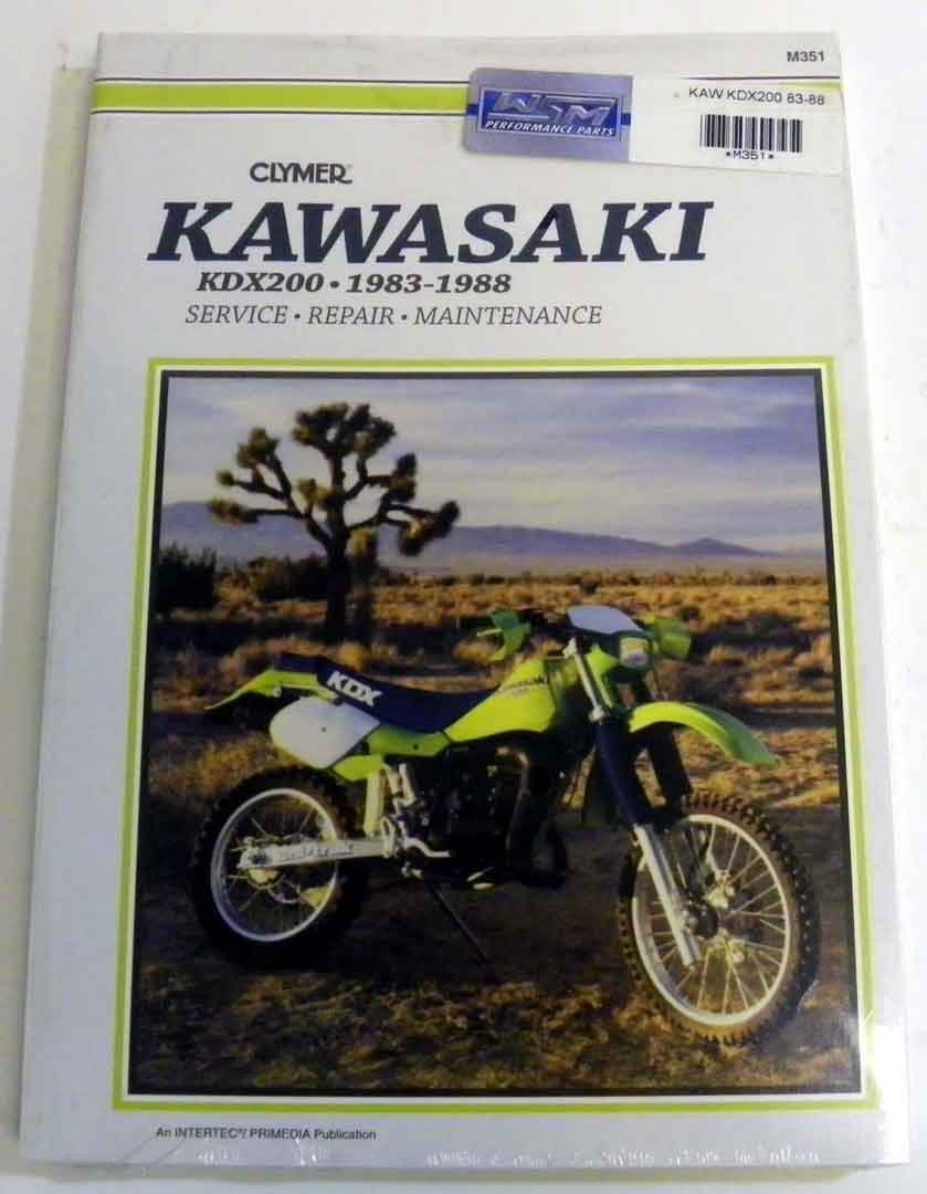 Amazon.com: ATV/Moto-X Kawasaki Clymer Manual Models KDX 200 1983-1988 WSM  M351: Automotive