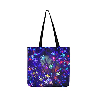 a7edc1418128 Amazon.com  Abstract Blue Bright Christmas Color Colored Canvas Tote ...