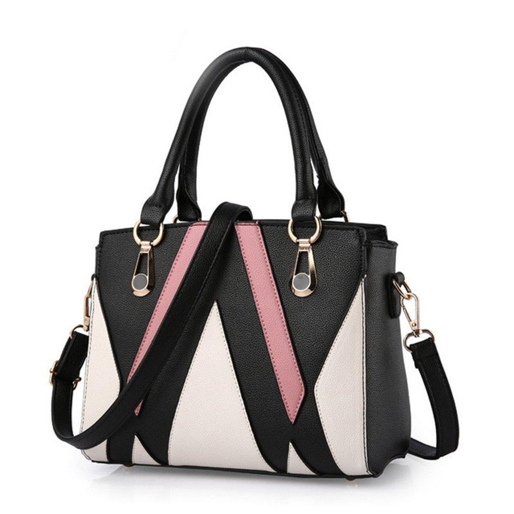Blackwhite Women's Top Handle Handbag Large Capacity Designer Messenger Bags Purse Tote Bag