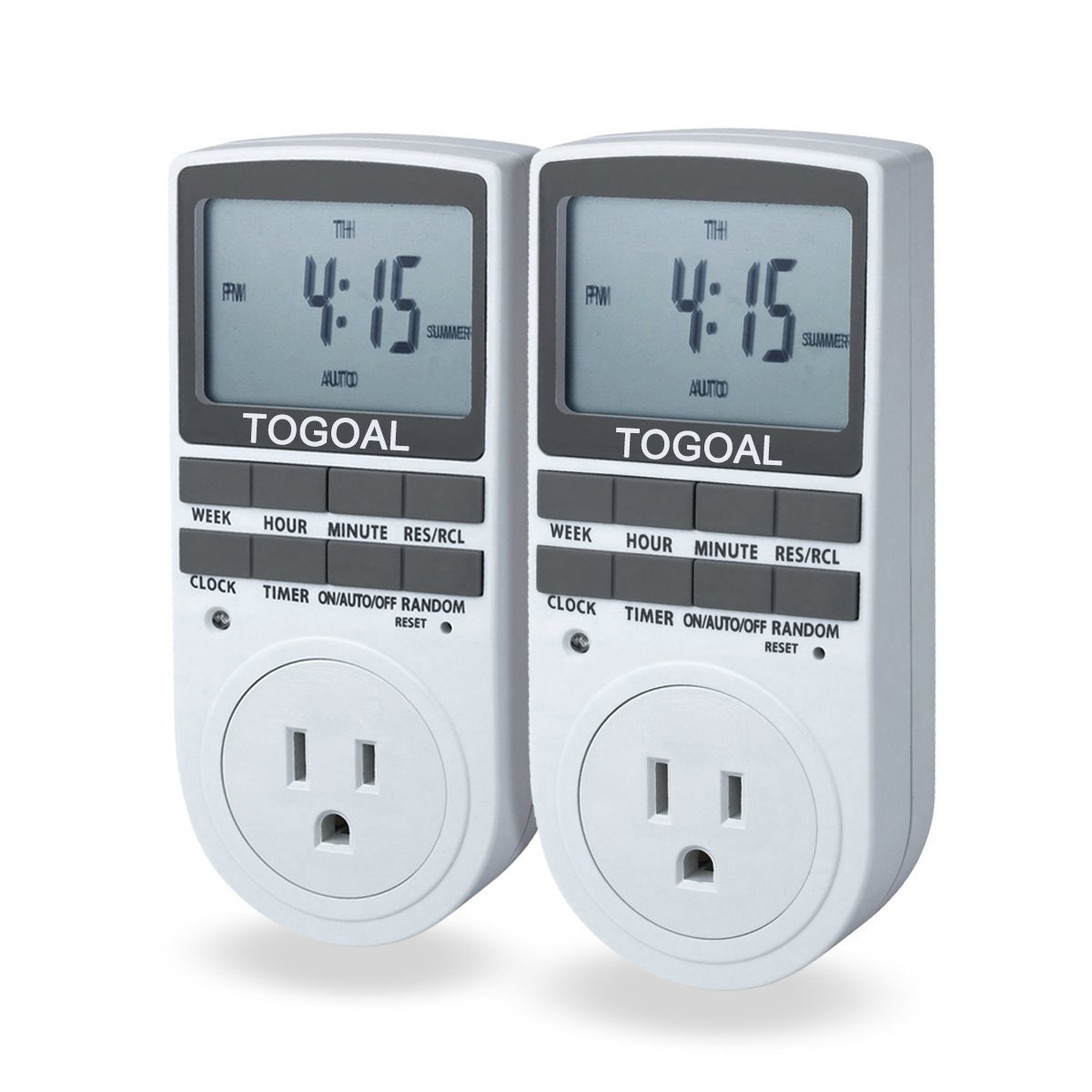 Electrical Timers Switch Picture Togoal Te02dt1800 Digital Light Timer Plug With 3 Prong Outlet 24