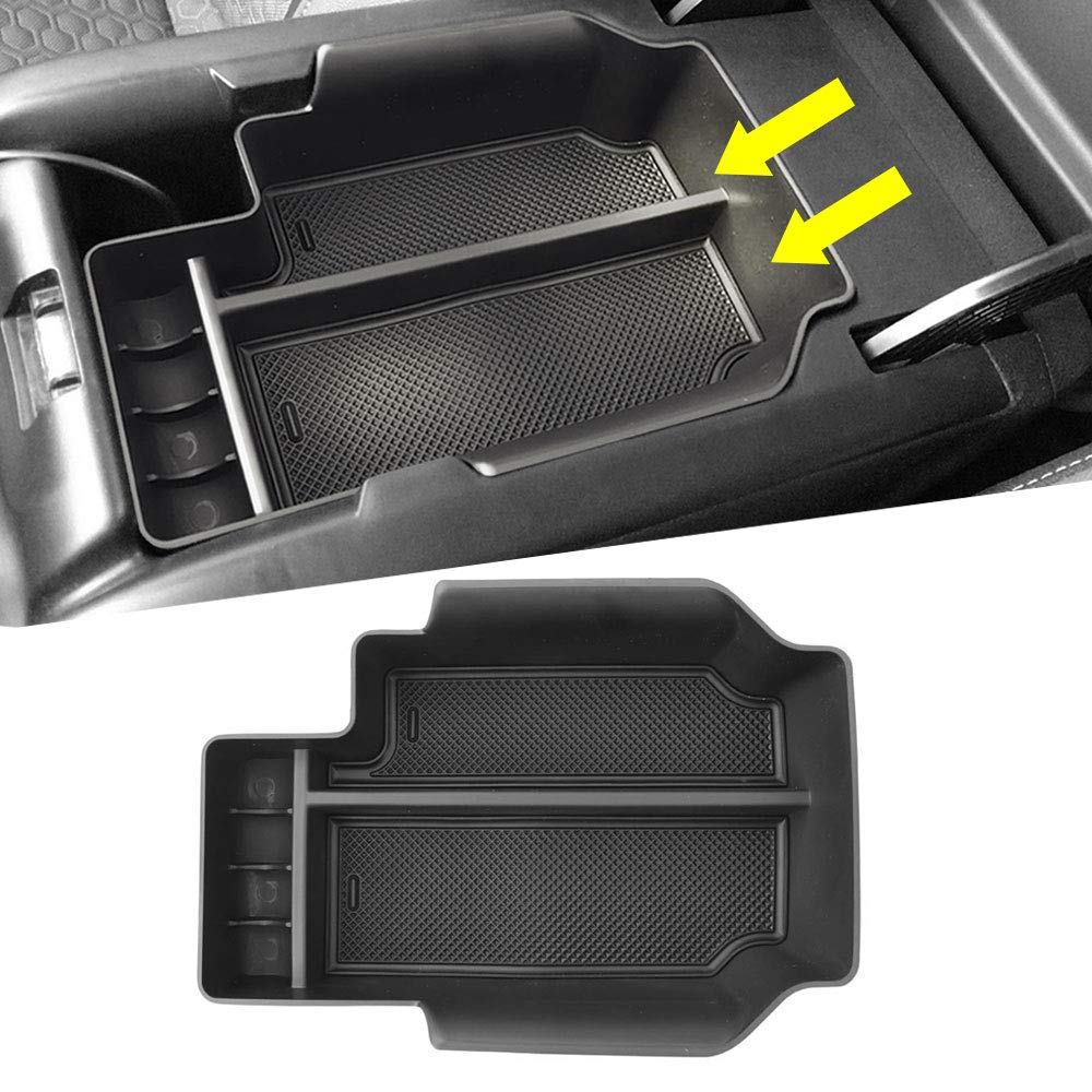 Autou Car Center Console Organizer Tray Storage Box for Dodge Ram 1500 Accessories 2009-2018 Full Console w//Bucket Seats ONLY