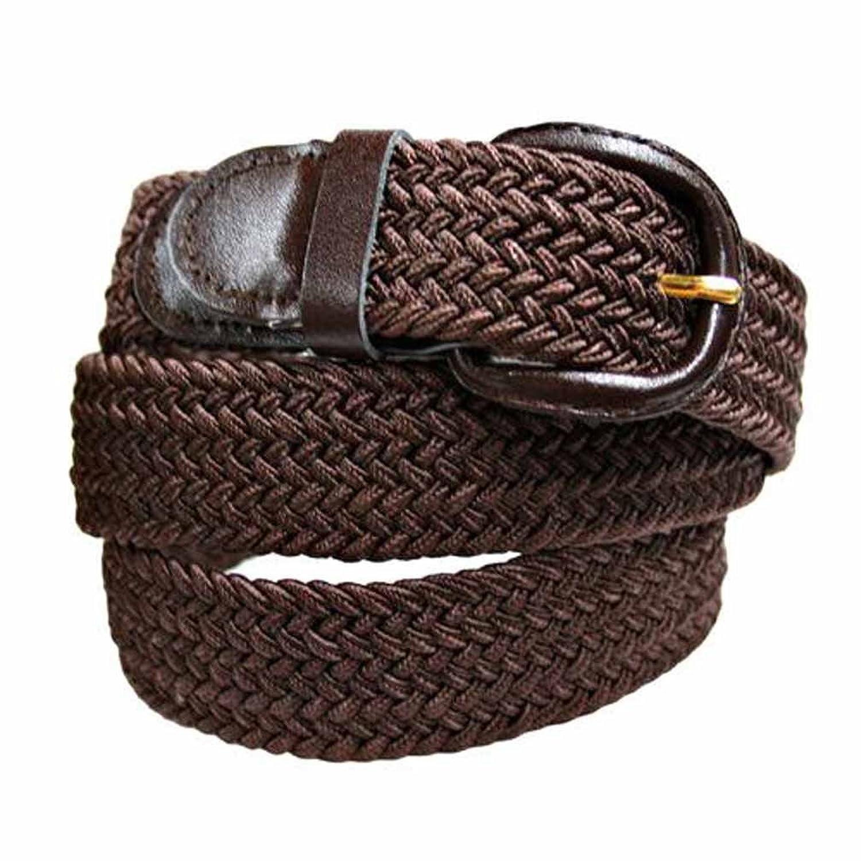 Luxury Divas Brown Braided Elastic Stretch Belt Size 2X