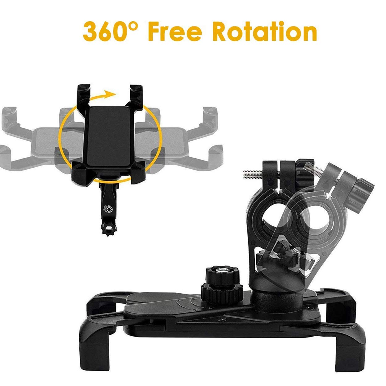 Lrifue Universal Anti Shake Bike Phone Mount 360/° Rotation Bicycle Cell Phone Holder for iPhone 11 Pro Max//XR//X//XS MAX//8//7 Plus Samsung Galaxy S10//S10 e//S10 Plus//S9 Plus//Note 10 Huawei Mate 30//9