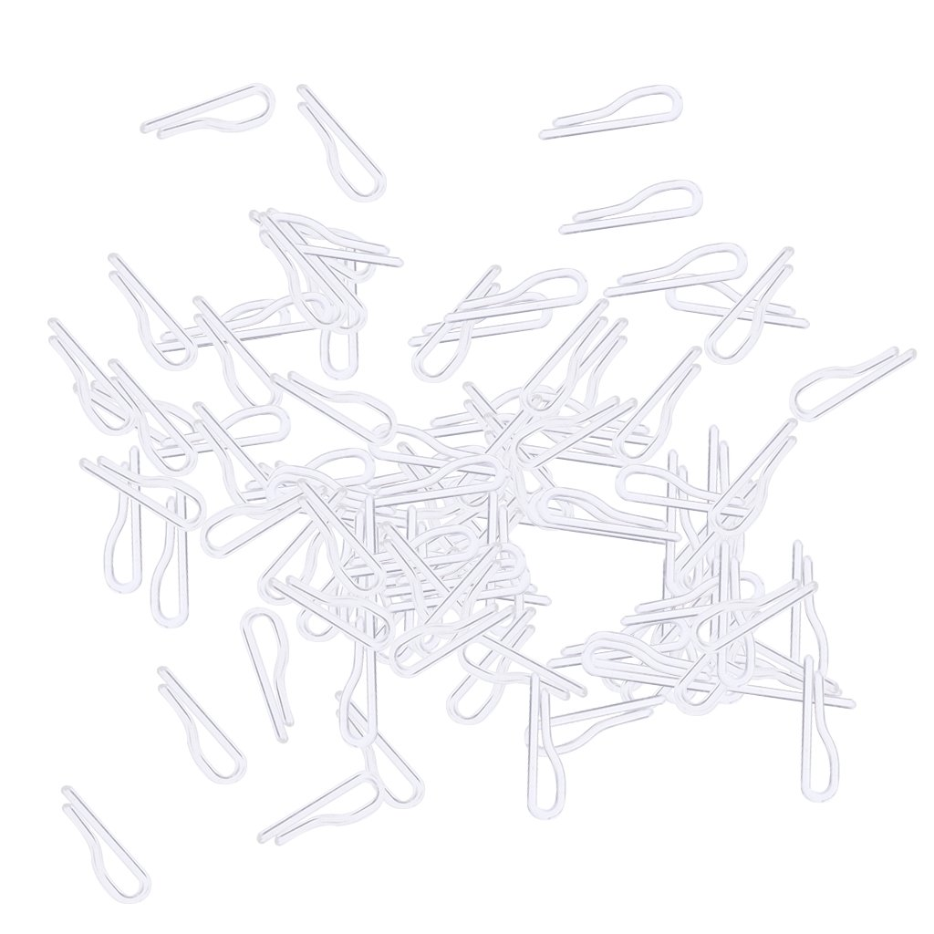 monkeyjack 100ピースプラスチックシャツクリップwithout歯のドレスシャツGarment Tie Sockパッケージ透明3.5 cmx1cmx0.2 cm B078S6V8YC