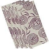 E by design Antique Flowers, Floral Print Napkin, 19 x 19'', Purple