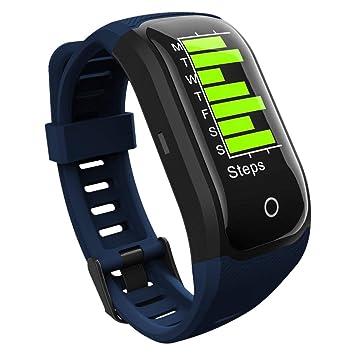 Harlls GPS Reloj para Correr Deportes al Aire Libre Reloj de Acero Inoxidable Reloj multifunción Modo de Entrenamiento Distancia Calorías Velocidad Recuento ...